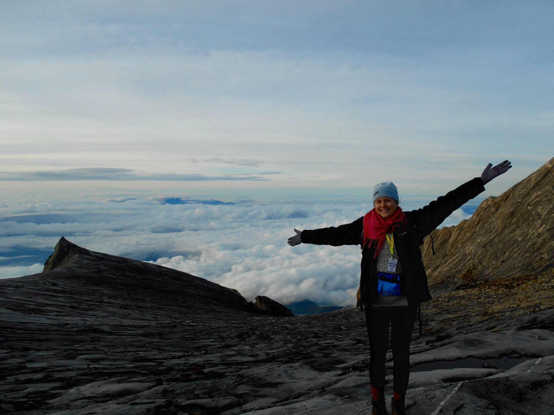 Standing at km 8 on Mount Kinabalu - nearly at the top