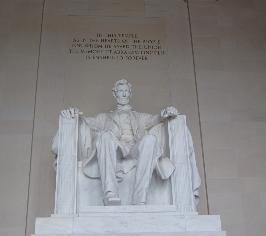 Lincoln Memorial from the inside - Washington D.C.
