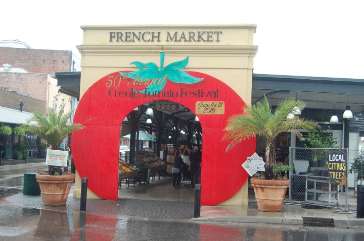 French Market in New Orleans ready for the Creole Tomato Festival